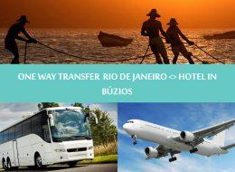 One way transfer Rio de Janeiro to hotel in Búzios - Traslado Rio de Janeiro para Búzios