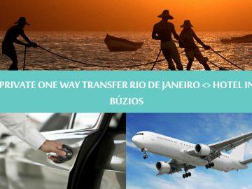 Private One way transfer Rio de Janeiro to hotel in Buzios - Traslado Privativo Rio de Janeiro para Búzios