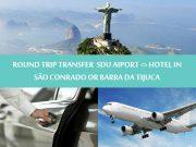 Round trip transfer Barra da Tijuca or São Conrado to SDU - Transfer Ida e Volta