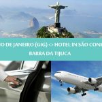 Transfer to Barra da Tijuca - GIG airport to Sao Conrado or Barra da Tijuca Vice versa - Traslado Barra da Tijuca