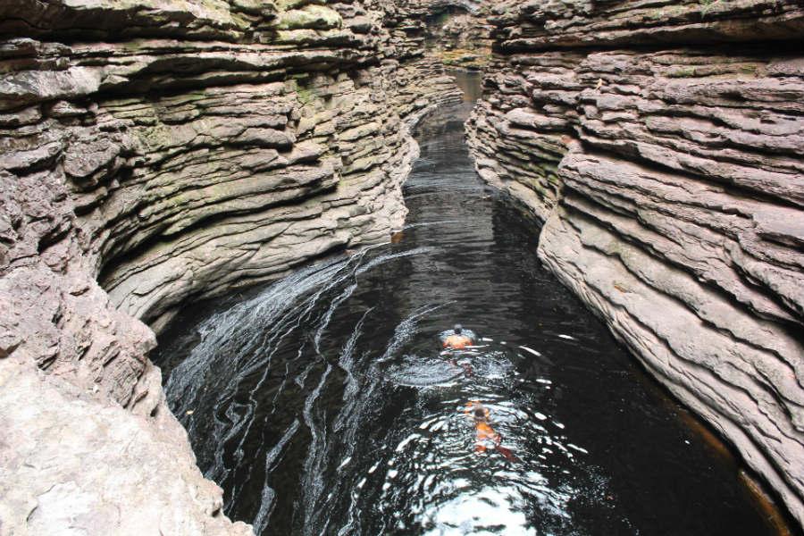 Northeast Brazil - Chapada diamantina - Cachoeira do buracao canyon - Cachoeira do Buracão