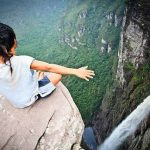 Northeast Brazil - Chapada diamantina - Fumaça falls rock - cachoeira da fumaça