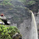 Northeast Brazil - Chapada diamantina - Fumaça falls view - Cachoeira da fumaça e Riachinho